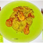 Crevettes Sautées avec du riz au safran