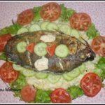 Poisson braisé et Salade