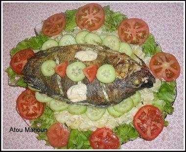 Poisson Braise Et Salade Recettes Africaines