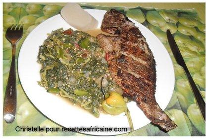 Poisson Frit Aux Legumes Verts Recettes Africaines