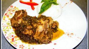 Sauce épinard à la viande de boeuf