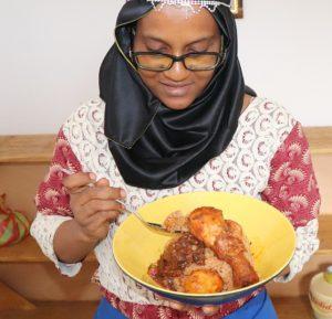 Riz gras  au Poulet